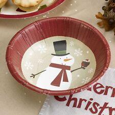 Pappschalen Weihnachten Schneemann 8 Stück - Advent Schalen Weihnachtsfeier Deko
