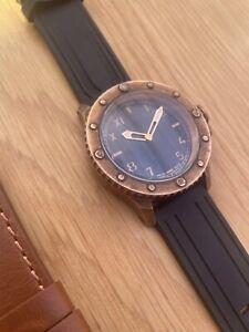 nethuns watch.  Unitas 6497. Swiss Made Bronze Watch.