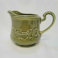 Canonsburg Pottery Co. Green Regency Ironstone Pitcher