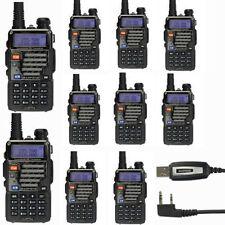 10x Baofeng UV-5R+ Plus 136-174/400-520 MHz Dual-Band Two-way Ham Radio Cable&CD