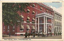 New Hotel Jack in Winchester VA Postcard 1919