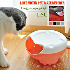 1.5L USB Electric Auto Pet Dog Cat Water Feeder Drinking Fountain w/ LED