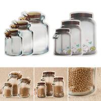 Reusable Food Storage Bags Leakproof Ziplock Snack Food Saver Storage Bag