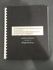 1959 NASA & AERONUTRONIC A DIVISION OF FORD MOTOR COMPANY FINAL REPORT
