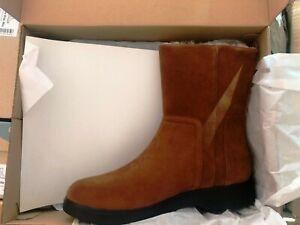 Clarks Women's Un Elda Mid Slouch Waterproof Ankle DTan Suede Boot Size 5.5 EU39