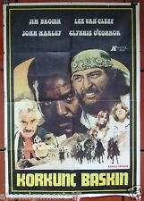 korkunc Baskin, Vengeance {Lee Van Cleef} Turkish Original Movie Poster 70s