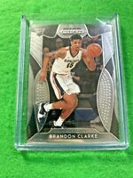 BRANDON CLARKE SILVER CHROME ROOKIE CARD JERSEY#15 GONZAGA RC 2019 Prizm DP rc