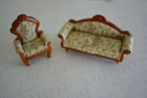 Miniature Furniture Scale 1inch Sofa and Chair