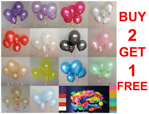 """10 Large Latex Pearlised Birthday Wedding Party Baloons Ballons Balloons 12""""inch"""