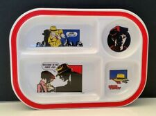 New listing 1990's Vintage Disney Dick Tracy Divided Plastic Plate Tray w/ 4 Compartments
