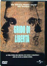 Dvd Grido di Libertà di Richard Attenborough 1987 Usato raro