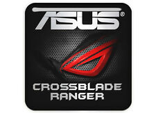"Asus ROG CROSSBLADE RANGER 1""x1"" Chrome Domed Case Badge / Sticker Logo"
