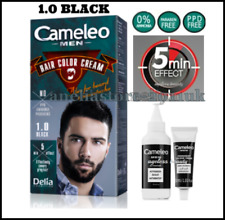 Delia Cameleo MAN Hair Color Cream 1.0 - Black, Ammonia Free, for All Hair Types