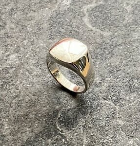Genuine 925 Sterling Silver Signet Ring Mens Gents Size R