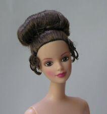 Nude brunette Barbie beautiful Claire updo hair Mackie face sculpt just deboxed