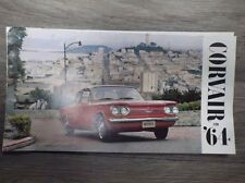 Original Vintage Chevrolet Corvair for 1964 Brochure