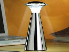 LUXUS Edelstahl 12 LED-Tischleuchte Batterie Akku Tischlampe Nachtlampe kabellos