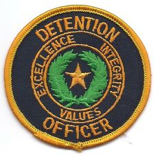 **TEXAS DETENTION OFFICER POLICE PATCH**