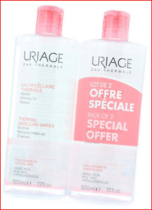 Uriage Thermal Micellar Water for Sensitive Skin, 500 ml, Pack of 2