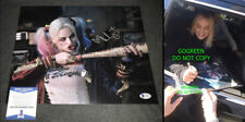 Margot Robbie signed Harley Quinn 11x14 photo Suicide Squad poster sexy hot body