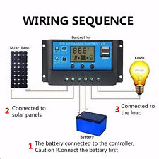 30A 20A 10A 12V 24V Solar Laderegler Solarregler Solarpanel Controller Regulator