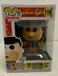 Funko Pop! Ad Icons: Fruity Pebbles -Fred with Cereal MINT IN STOCK w/ Protector