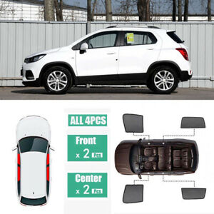4pcs Side Windows Magnetic Sun Shade UV Ray Blocking Mesh Fit For Holden Trax