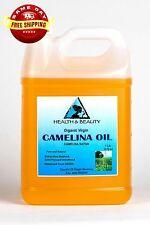 CAMELINA OIL UNREFINED ORGANIC VIRGIN COLD PRESSED by H&B Oils Center PURE 7 LB