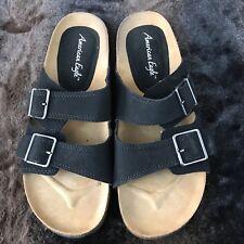American Eagle Womens Black Sandals W/Strap Size 81/2