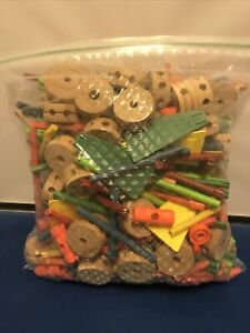 Tinkertoy Tinker Toy Vintage Lot of 300+ Pieces From Multiple Sets
