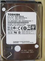 "320 GB Toshiba MQ01ABD032 AX001A SB5 27OCT2012 2,5"" disco rigido PCB OK"