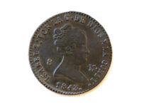 Moneda 8 Maravedís, Isabel II, 1843