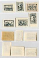 Armenia 1922 500r - 20000r mint imperf. rtb4511