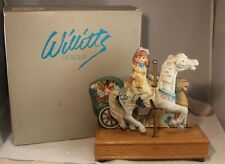 "Willitts Musical Tune Carousel Waltz #8980 Horse & Girl Figurine 9 1/2"" Tall"