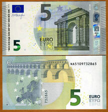 Austria - 5 euros - 'NA' - Sign. Mario Draghi - UNC currency note
