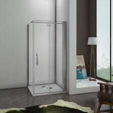 100x90x195cm Cabine de douche pivotante pliante Pario de douche avec barre 140cm