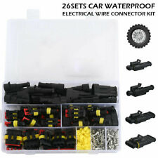 26 Sets Waterproof Car Auto Electrical Wire Connector Plug 1-4 Pin Way Plug KD