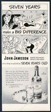 1949 John Jameson's Irish Whiskey bowling cartoon art vintage print ad