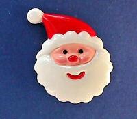Hallmark PIN Christmas Vintage SANTA Face Jolly Small Holiday Brooch