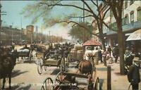 Augusta GA Busy Broad Street Scene c1905 Rotograph Postcard
