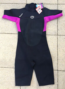 BRAND NEW WITH TAG LADIES HOT TUNA 2.5MM BLACK & PINK SHORTY WETSUIT SIZE UK 16