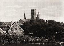 1924 Original SCANDINAVIA Photo Gravure Danish Denmark Ribe Castle Architecture