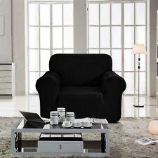 Enova Home Black Jacquard Spandex Fabric Box Cushion Chair Slipcovers