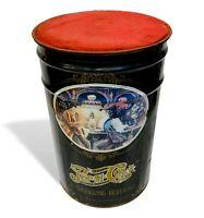 pepsi cola pouff contenitore bidone in latta vintage 1960 puff