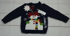 The Children's Place Boys Dark Blue Snow Man Sweater Size 6-9 Months NWT - A1900