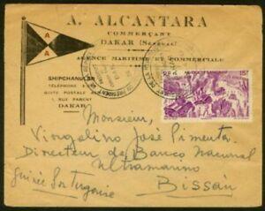 Portuguese Guinea 1947 cover/Bissau/VOYAGE DU PRESIDENT