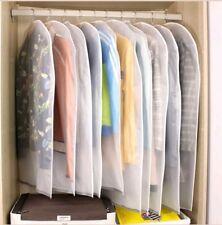 6 Pack Set Clear Garment Dress Suit Clothes Coat Cover Protector Travel Zip Bag
