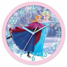DISNEY FROZEN WALL CLOCK NEW OFFICIAL UK SELLER KIDS