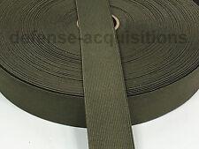 Military Elastic Webbing 1.5 INCH MIL-W-5664 RANGER GREEN MilSpec - Per Yard