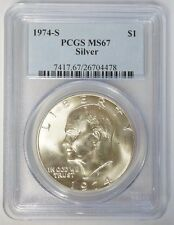 1974 S $1 Silver Eisenhower Ike Dollar PCGS MS67